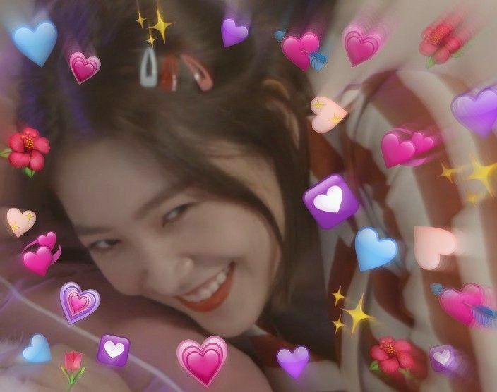 Yeri Red Velvet Kpop Heart Meme Love Kertas Dinding Iphone