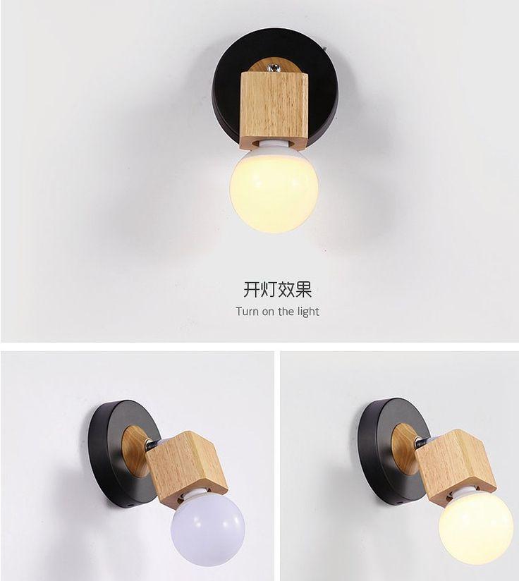Moderna in legno massiccio della lampada da parete di copertura del ferro Luce fai da te Illuminazione Home Cafe Decoration