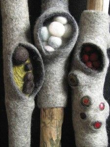 Felted twigs.