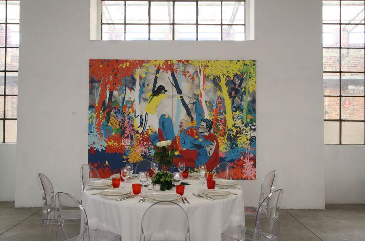 Le opere della Collezione Borroni sono la cornice perfetta per ogni evento e fonte d'ispirazione per gli allestimenti.