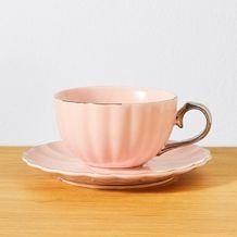 Celebrate New Bone China Tea Cup & Saucer - Pink