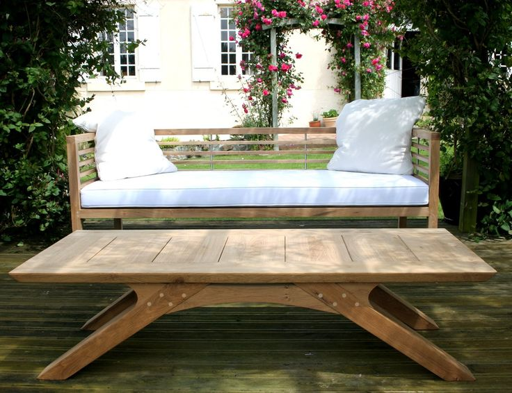 arch leg coffee table and loire garden bench