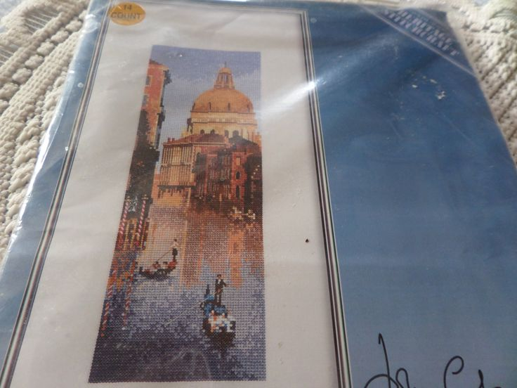 Cross stitch kit, complete kit, John Clayton,  International series, Venice scene, Heritage Stitchcraft, 14 count Aida, landscape design by MaddisonsRainbow on Etsy