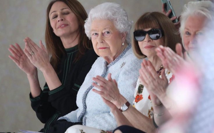 Anatomy of the Queen on the 'frow': It is a long-established fact that, to the casual observer at least, what happens on the front row at any fashion show is always more interesting than what happens on the runway.