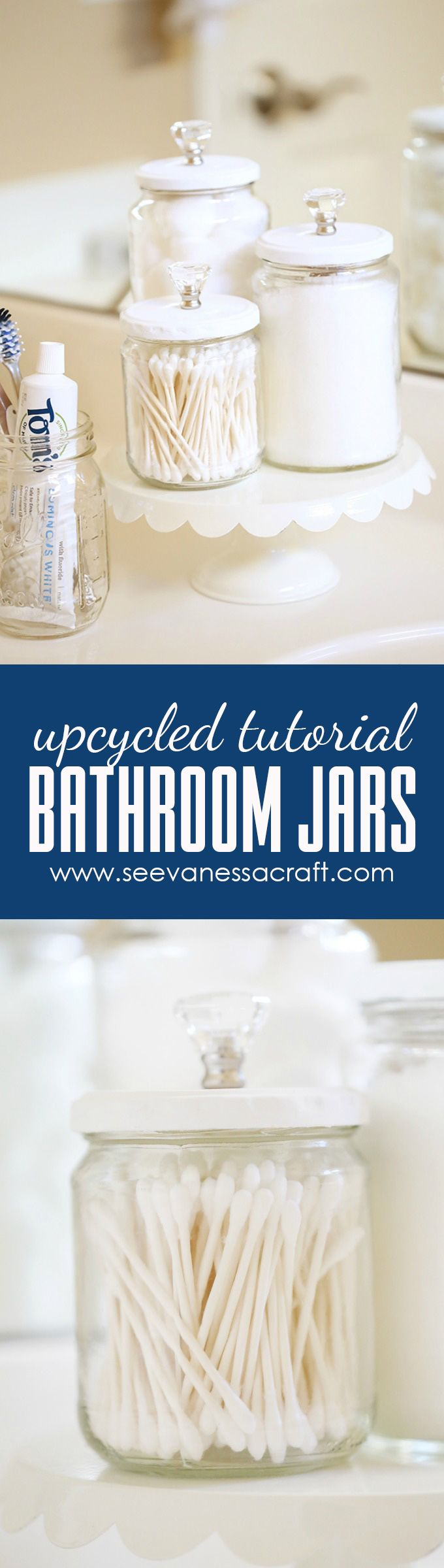 Gallery Website Craft Upcycled Chalk Paint Bathroom Jars