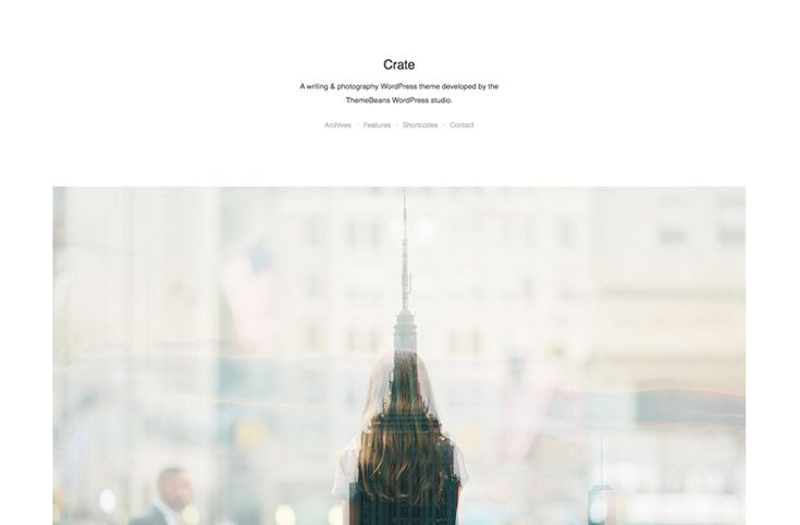 Crate is an elegant minimal WordPress theme you can use if you want to focus just getting your message out there, without any distractions. Crate features a live theme customizer you can use to edit the fonts and colors of your WordPress site, a hidden sidebar, full screen featured images fro posts and post formats (standard, [
