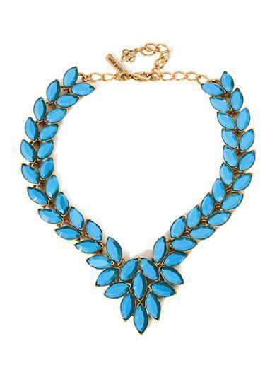 Navette cabochon necklace | Oscar De La Renta | MATCHESFASHION...