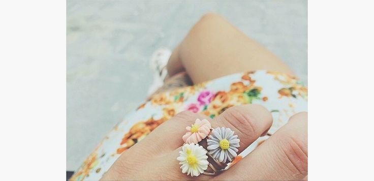 Tiny Flower Ring by Young Pilgrims Jewellery #thekiwicollective #newzealand #newzealandsfinest