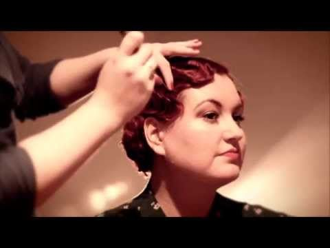 Fabulous Finger Waves - 1920s & 1930s finger wave tutorial - YouTube
