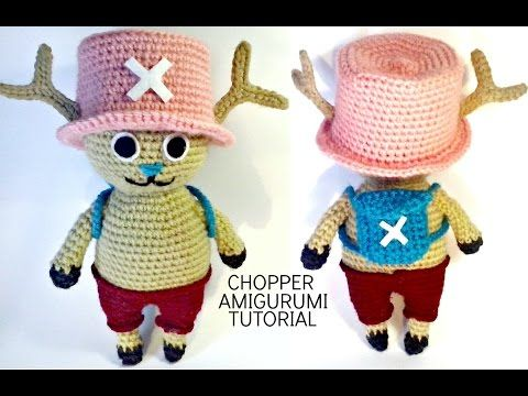 Tutorial CHOPPER One Piece amigurumi, HOW TO CROCHET CHOPPER OF ONE PIECE AMIGURUMI, My Crafts and