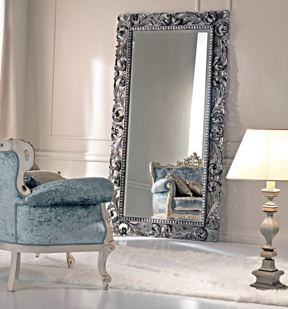 Paris collection large silver floor mirror