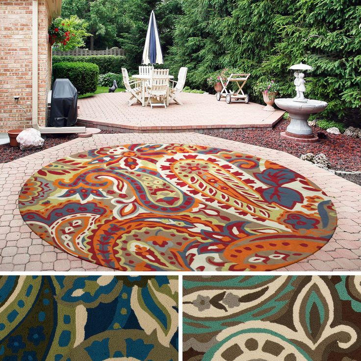 Round Outdoor Rugs For Patios: 27 Best Round Outdoor Rugs Images On Pinterest