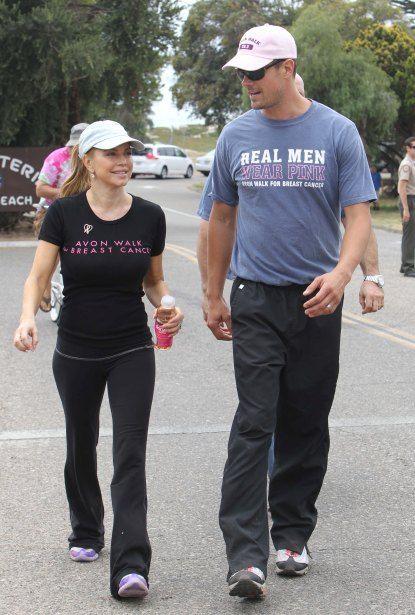 Fergie and Josh Duhamel walk for charity