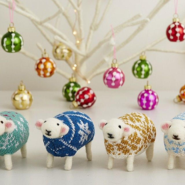 Meet Fern, Snowflake, Goldie and Crystal, four of my sheep from the new Sparkle Collection. Each jumper is knitted with glittering wool for a touch of festive magic!