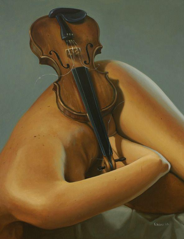 "Artist: Krassimir Kolev; Oil, Painting ""Homage to Antonio Vivaldi"""