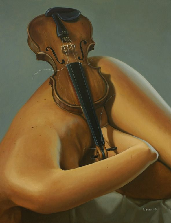 "Artist: Krassimir Kolev; Oil, Painting ""Homage to Antonio Vivaldi"""