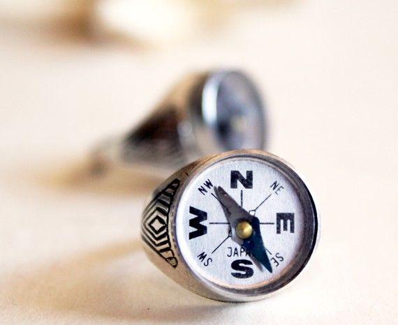 Nautical Compass Ring