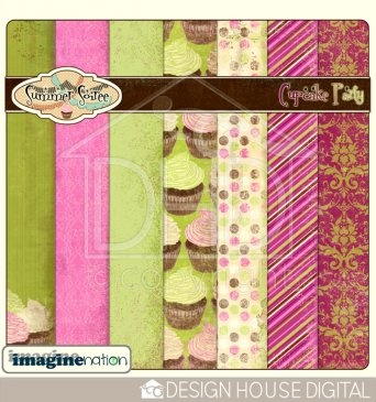 Digital scrapbooking kit - Summer Soiree. By imaginenation only at Design House Digital