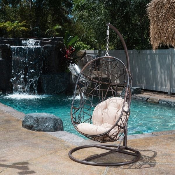 Pleasant Outdoor Egg Wicker Chair By Christopher Knight Home Ncnpc Chair Design For Home Ncnpcorg
