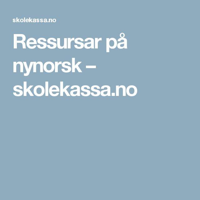 Ressursar på nynorsk – skolekassa.no