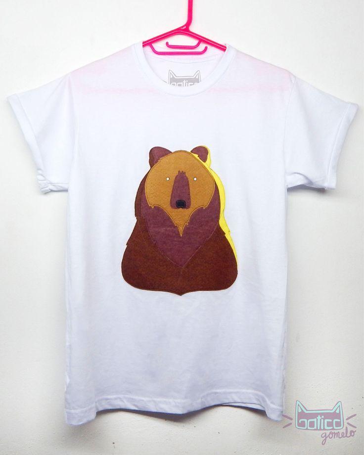 #fieltro #oso #osito #camisetas #diy #gatico #gomelo #fashion #cali #colombia