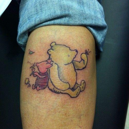 Winnie the Pooh and Piglet tattoo