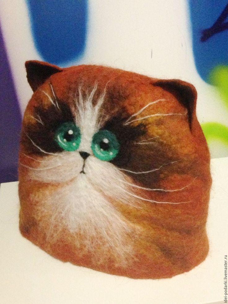 Купить Новогодний подарок Грелка на чайник Котик - рыжий, котик, грелка на чайник, грелка для чайника