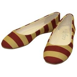 Garnet and Gold Striped Shoes