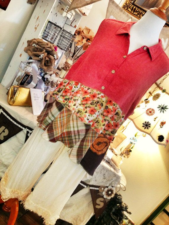 PLUS SIZE gypsy plantation mori girl lagenlook altered couture swing tunic top shirt blouse size16 18 20 1X 2X