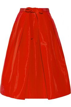 This silk-faille #Tibi skirt is gorgeous; perfect for the holidays, or any dressy winter event. Love the full, tea length cut, and the bow detail.    NET-A-PORTER
