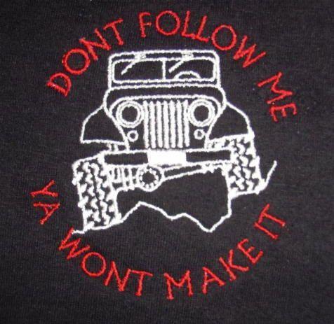 Personalizados bordados camiseta o POLO o tanque por jeeplady2012