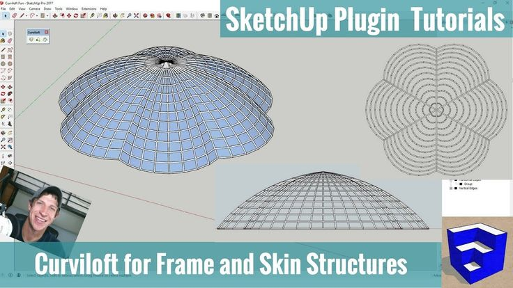 Fun With Curviloft - Creating a Frame and Skin Structure in SketchUp