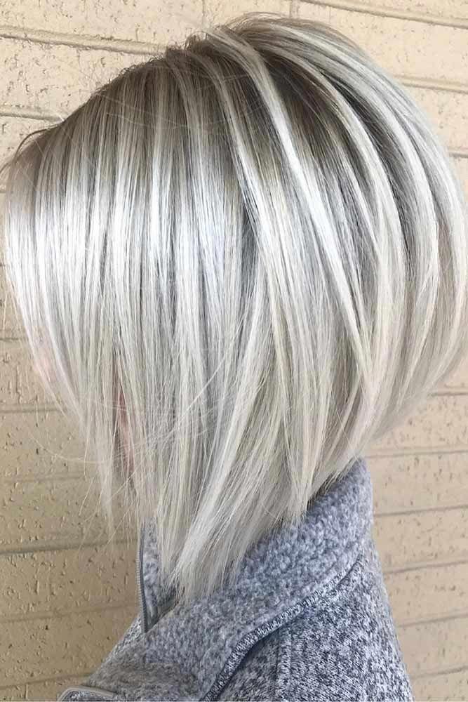 Platinum Stacked Bob Haircut #Bobhaircut