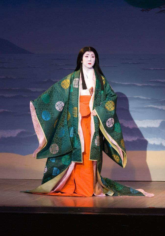 Kabuki Theater based on the Heian Era.  Possibly from the book, The Tail of Genji.