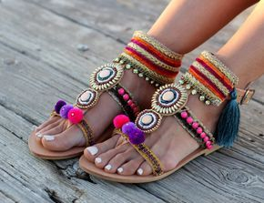 Handmade artisanal Sandals Greek Leather Sandals Swarovski