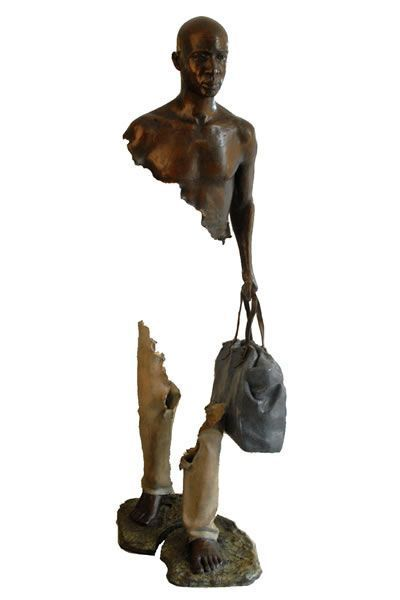 Sculptures with missing pieces by Bruno Catalano (his big thing) Original Source: http://brunocatalano.com/