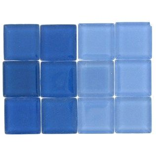 Tree House Studio Light & Dark Blue Glass Mosaic Tiles | Shop Hobby Lobby