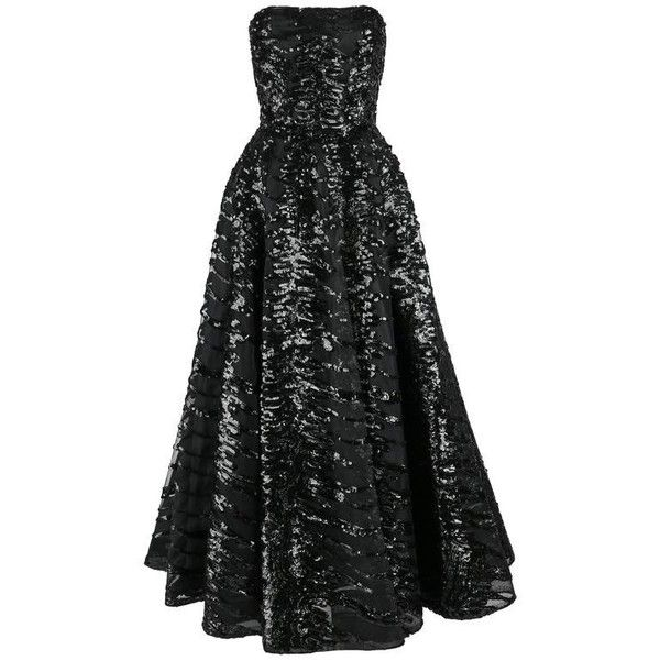 Preowned Haute Couture 1950s Black Sequin Ball Gown Evening Theater... ($6,294) ❤ liked on Polyvore featuring dresses, gowns, vintage, black, embellished dress, cocktail dresses, vintage cocktail dresses, couture dresses and holiday dresses