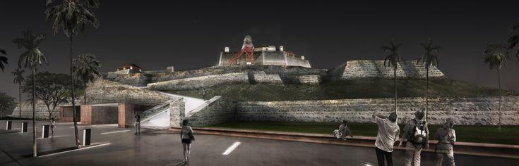 Galería de Este es el diseño de Colectivo720 + De Arquitectura y Paisaje que iluminará castillo en Cartagena - 2