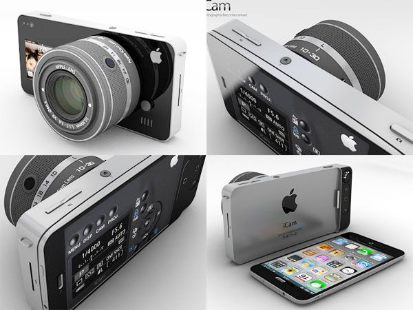 iCam Concept, actually amazing ♥.: Idea, Gadgets, Icam Concept, Stuff, Apple, Iphone Camera, Awesome Inventions, Camera Extension, Cameras