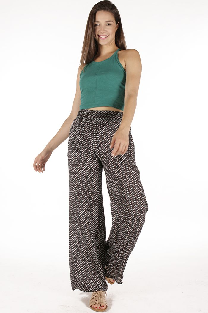 Turquoise crop top and flare pants! The absolute summer look! Badila With Love