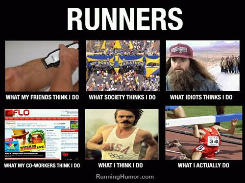 Funny running picture - what runners do