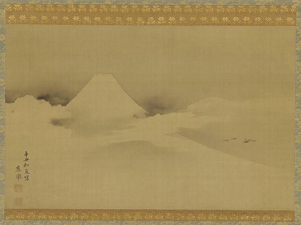 Mount Fuji | Maruyama Okyo | Japan | Ink on silk | 18th century | Edo period | Freer and Sackler | F1908.386