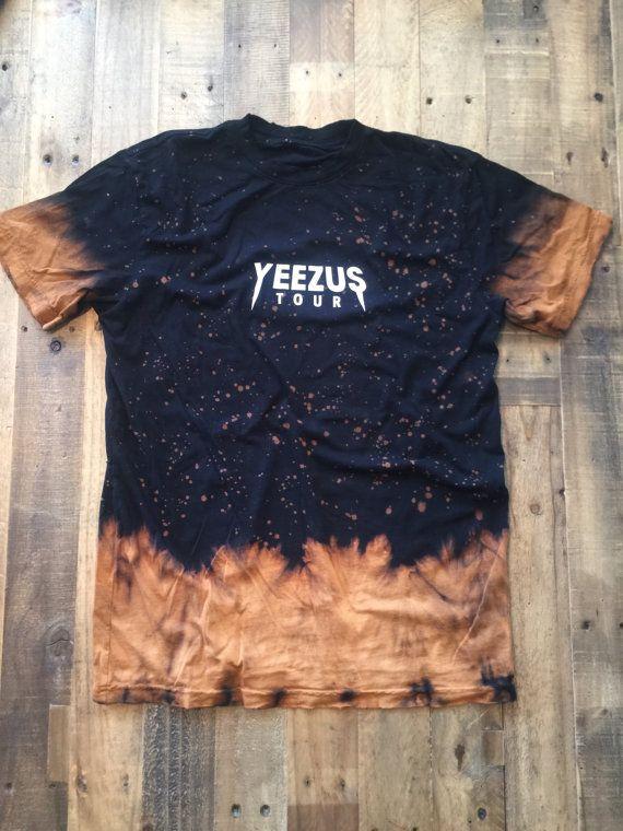 Yeezus Tour Bleached Tie Dye Tee Yeezy Tour by VintageTourBoutique