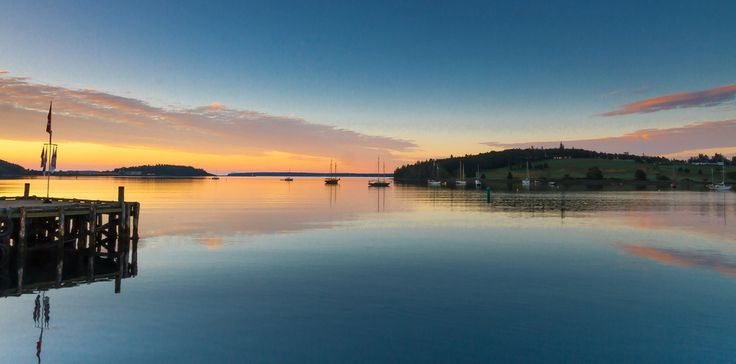 Sunrise at Lunenburg Harbor in Nova Scotia. | 34 Reasons The Maritimes Is The Best Place On The Planet