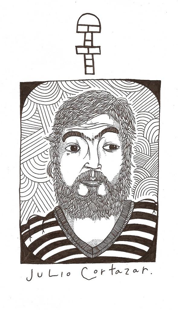 Julio Cortazar by Monstroise.