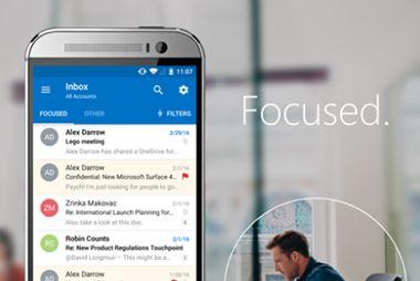 Como ver todas las carpetas y mensajes de Outlook en la app