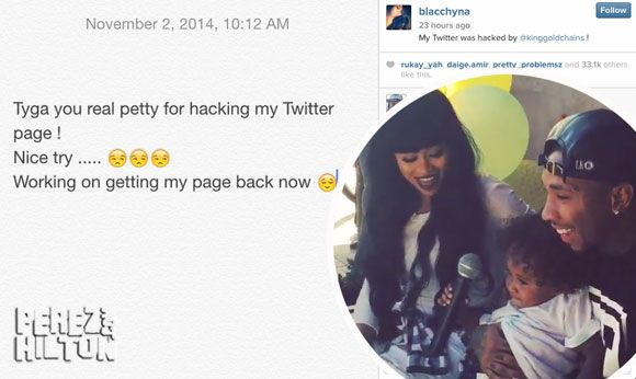 Blac Chyna Claims Tyga Hacked Her Twitter Account & Called Her A Cheating Gold Digger! DRAMA!