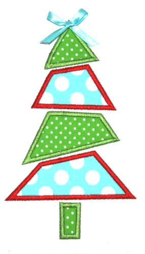 Free Applique Patterns Download | 175 Mod Christmas Tree Applique Design