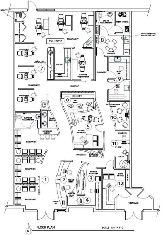 Orthodontic office floor plan is a response to our 6 page for Office design questionnaire